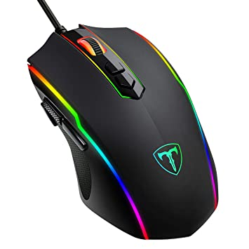 c56c21203a0 PICTEK Gaming Mouse Wired, 8 Programmable Buttons, RGB Backlit 7200 DPI  Adjustable, Grip