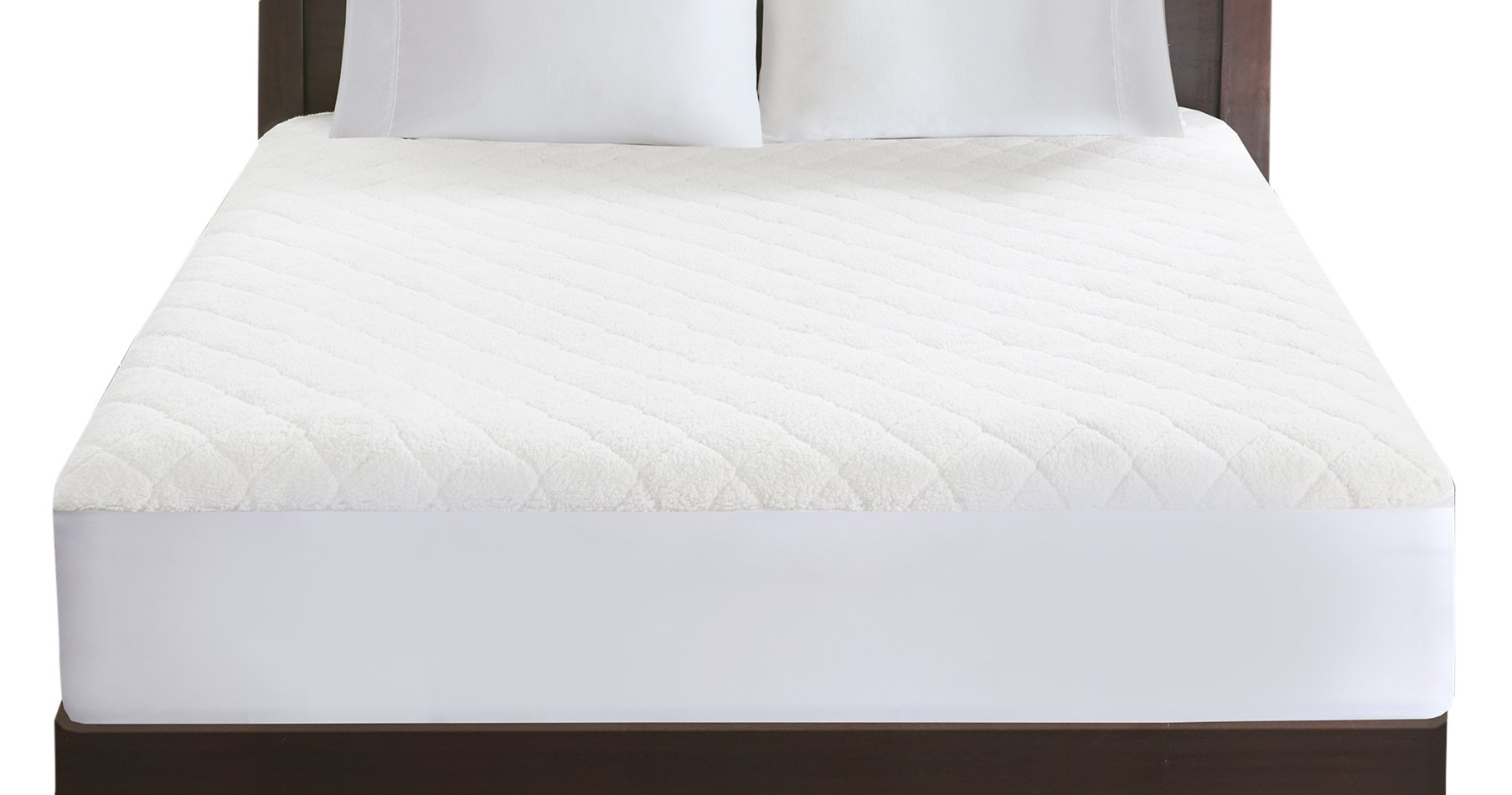 Woolrich WR55-1778 Heated Sherpa Mattress Pad Twin White,Twin by Woolrich (Image #1)