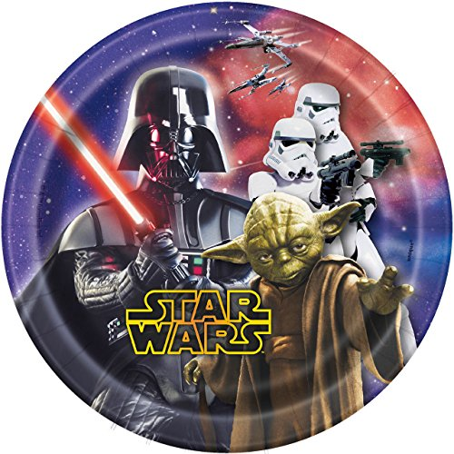 Star Wars 7 Inch Paper Plates [8 Per Pack] -