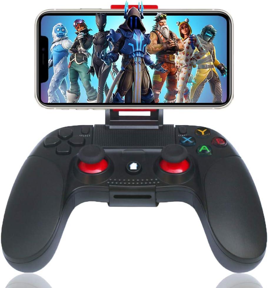 Mando para Android iOS Inalámbrico, Maegoo Bluetooth Movil Android Mando Gamepad Joystick con Soporte Retráctil Compatible para iOS(Versión 11.3-13.3) iPhone iPad Android Teléfono Tableta