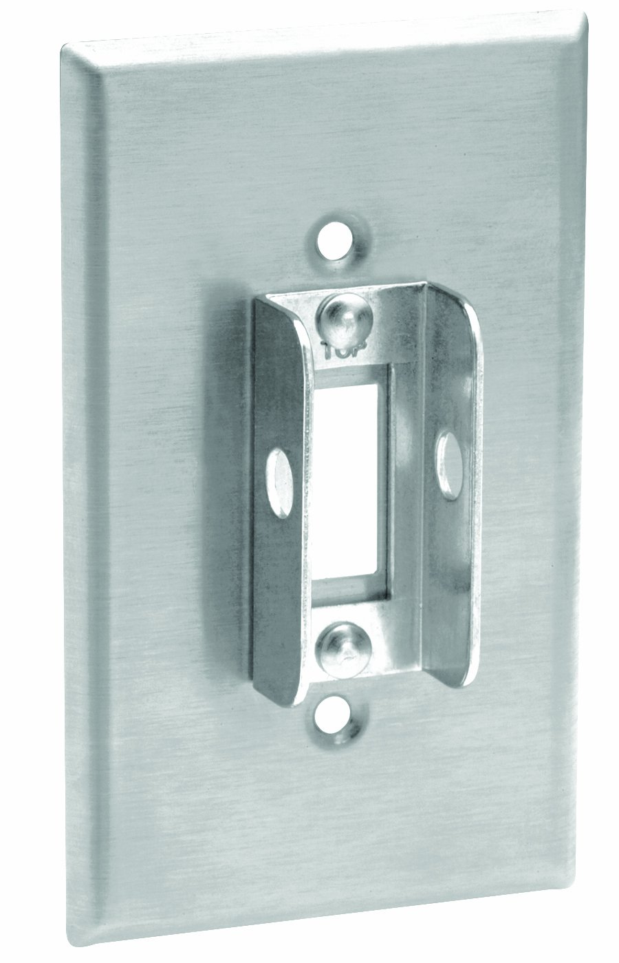 Leviton 84001-LOK 302 Stainless Steel, Lockout Wallplate, Tamper-Resistant Screws And Spanner Tool by Leviton (Image #1)