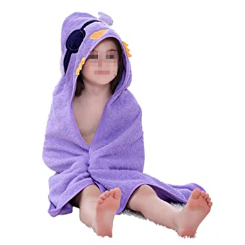 Baoffs Poncho de Toalla de baño con Capucha para niños Toalla de baño con Capucha para niños/niñas Chicos Chicas Natación Cambio de Traje (Color : Púrpura): ...