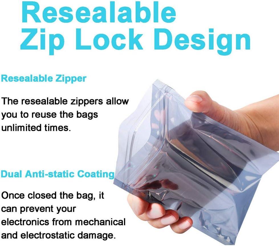 50PCS 60x90mm Translucent Antistatic Static Abschirmung ESD Zip lock Bag L2KS