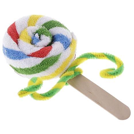 SM SunniMix 1 pc Toalla Lollipop Chupa Chups de Algodón Regalo para Navidad para Cumpleaños Regalo