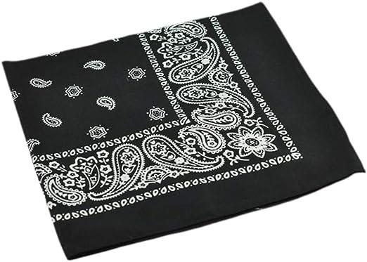 Pañuelo de cabeza de 54 x 54 cm, de algodón, unisex, con estampado ...