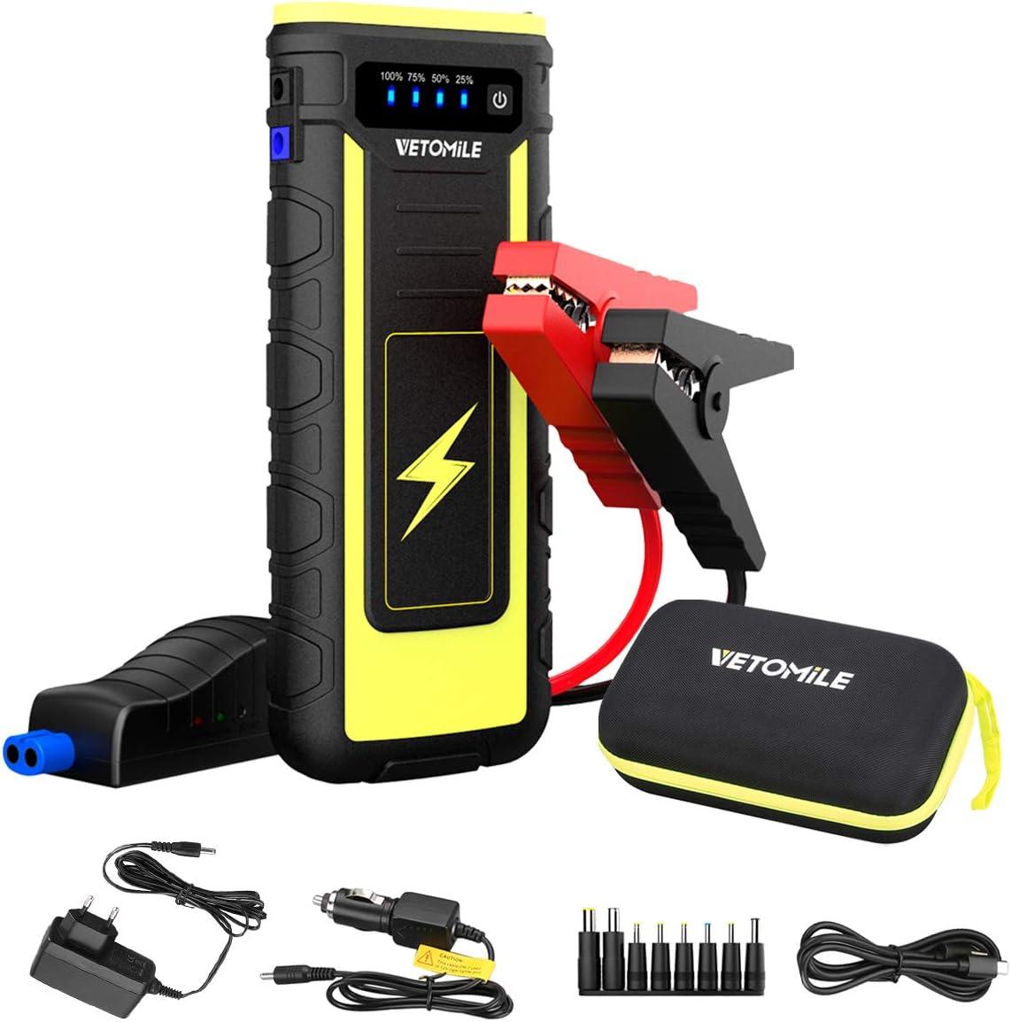 Vetomile Auto Starthilfe Powerbank 21000mah Für 12v Elektronik