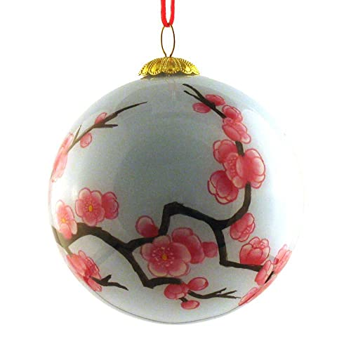 World Treasure Hand Painted Glass Ornament, Pale Green with Pink Cherry  Blossoms CO-120 - Japanese Christmas Ornaments: Amazon.com