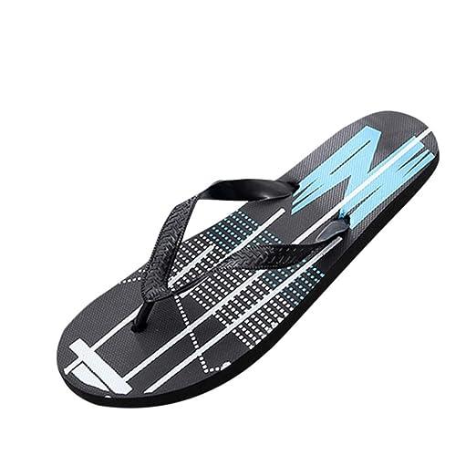 756d6f4c6109 Botrong Men Fashion Anti Skidding Pinch Sandals Slipper Flip Flops Beach  Shoes (US Size 7