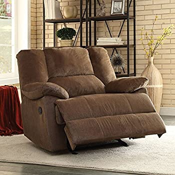 ACME Furniture 59415 Oliver Oversized Glider Recliner (Motion) Chocolate Corduroy & Amazon.com: Simmons Upholstery Phoenix Mocha Cuddler Recliner ... islam-shia.org