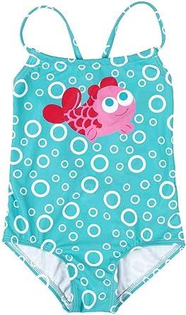 Baby Girls Cute One Piece Swimming Costume Printed Swimwear Swimsuits Infant Kids Baby Girls Fruit Bikini One-Piece Swimwear Headband Beachwear Set Ruffle Bathing Suit