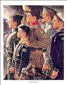 Amazon Com Norman Rockwell Boyscouts Forward America