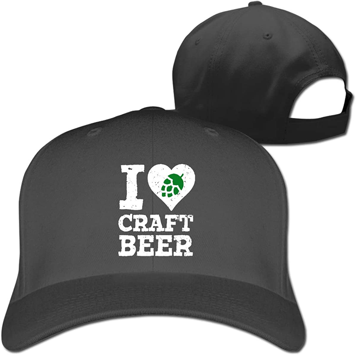 I Love Craft Beer Classic Adjustable Cotton Baseball Caps Trucker Driver Hat Outdoor Cap Fitted Hats Dad Hat Black