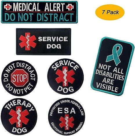 SERVICE DOG MEDICAL PATCH service dog vest patch