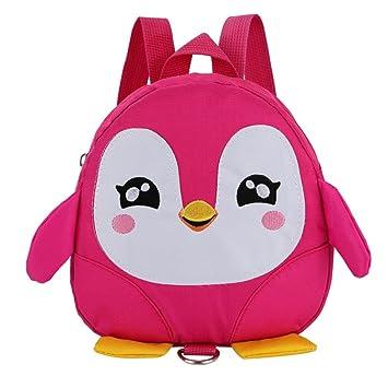 Kids 3D Penguin Backpack Bag for Little Boys Girls, Iuhan Toddler Walking  Safety Backpack Little 8b9064c27c