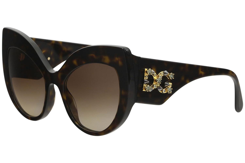 200f70c26571 Amazon.com  Dolce   Gabbana DG4321 B50213 Havana Cat Eye Sunglasses for   Clothing