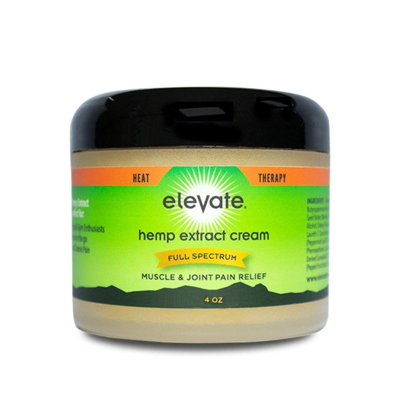 Pain Relief Hemp Extract Heat Cream Therapy, Muscle & Joint Relief by Elevate