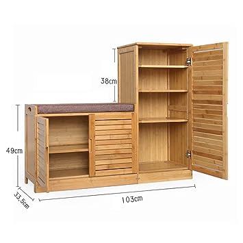 Amazon.com: PLLP - Zapatero de madera para el hogar, armario ...