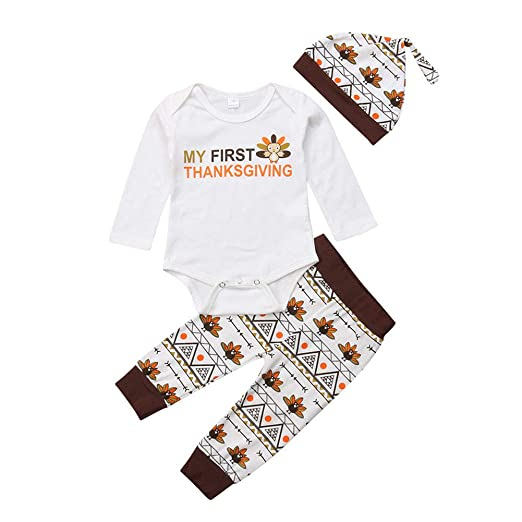 eec1760eb49a Image Unavailable. Image not available for. Color  Newborn Baby Girl Boy  Thanksgiving Costumes