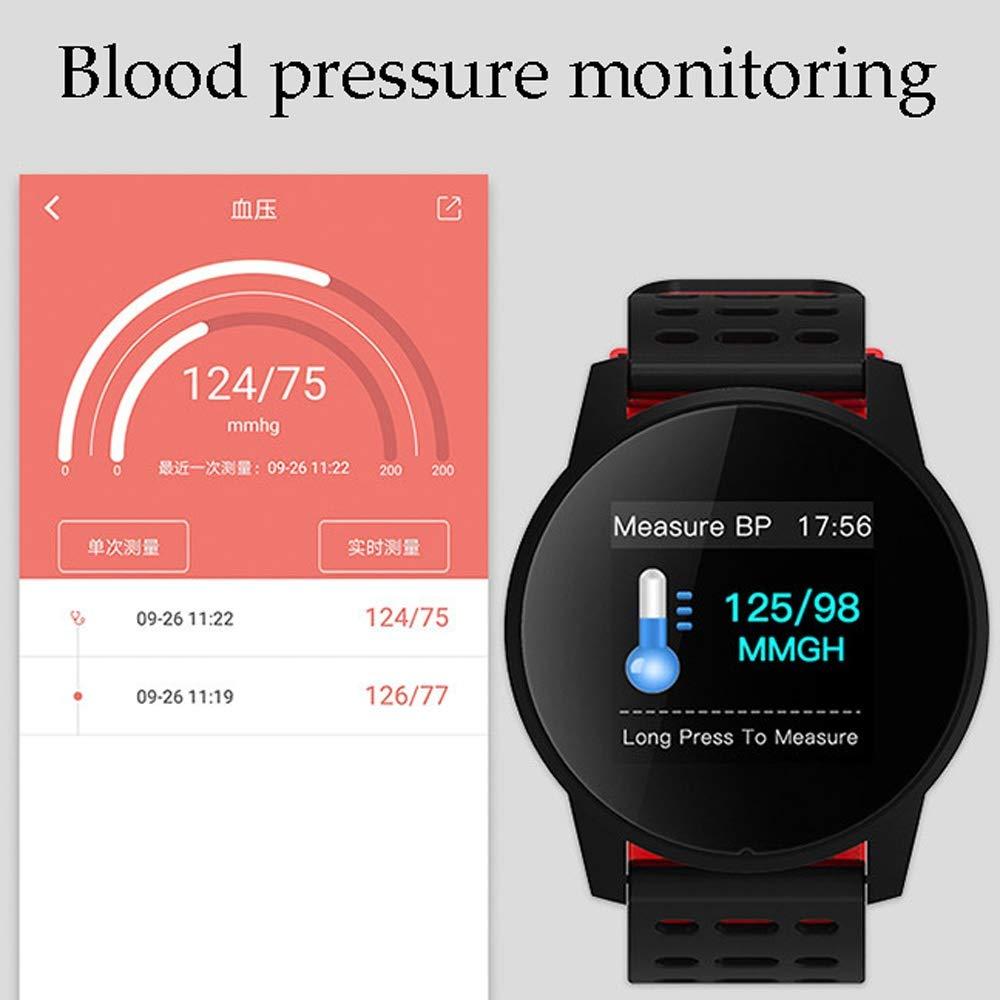 Xiao huang li klockor fitness tracker/klocka med pulsdetektor/Bluetooth/multifunktion/vattentät/bandlängd 24,9 cm/röd, grå, grön, blå (färg: Röd) Grått