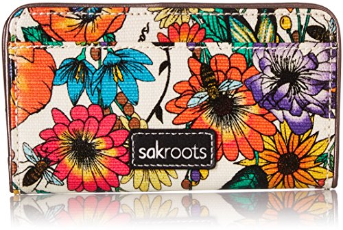 Sakroots Slim Wallet, Optic in Bloom
