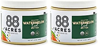 product image for 88 Acres Organic Watermelon Seed Butter | Keto-Friendly, Vegan, Gluten Free, Dairy Free, Nut-Free Non GMO Seed Butter Spread | 2 Pack, 14 oz