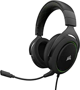 Corsair CA-9011171-AP HS50 Stereo Gaming Headset, Green
