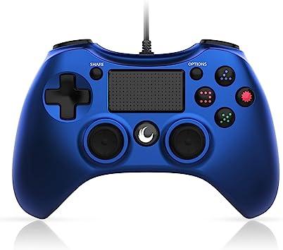 Mando a distancia para PS4, con cable, para PS4, DualShock 4 USB, con cable, joystick para PlayStation 4, PS4 Pro, PS4 Slim (azul): Amazon.es: Electrónica
