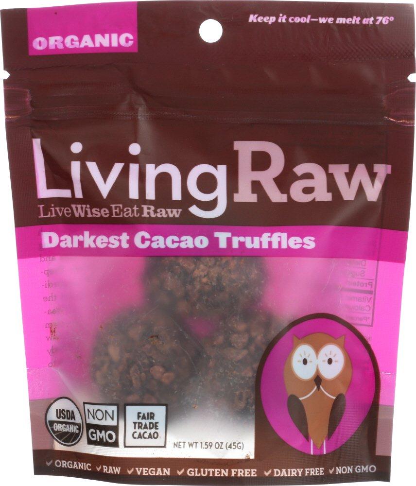 Living Raw Organic Darkest Cacao Truffles (12x1.59 Z )