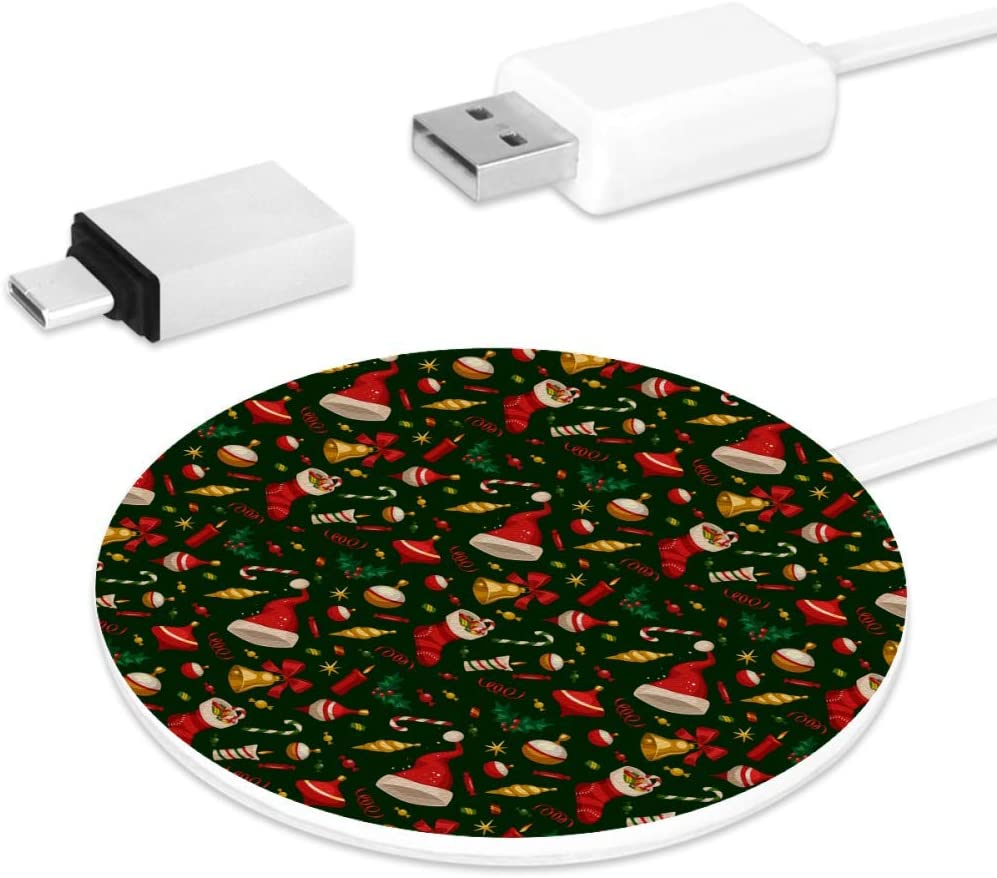 Qi Christmas Special 2020 Amazon.com: Christmas Pattern.JPEG Wireless Charger, Qi Certified