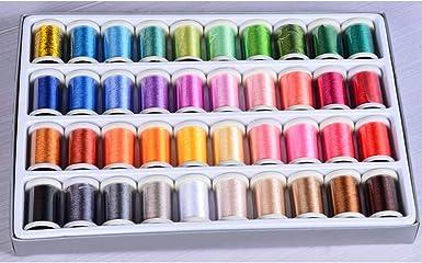 Pencil2 Kit De Hilo Para Bordar A Máquina 40 Colores De Rayón Juego De Bobinas De Hilo De Coser Para Máquina De Coser 40 Colors Talla única Amazon Es Ropa Y Accesorios