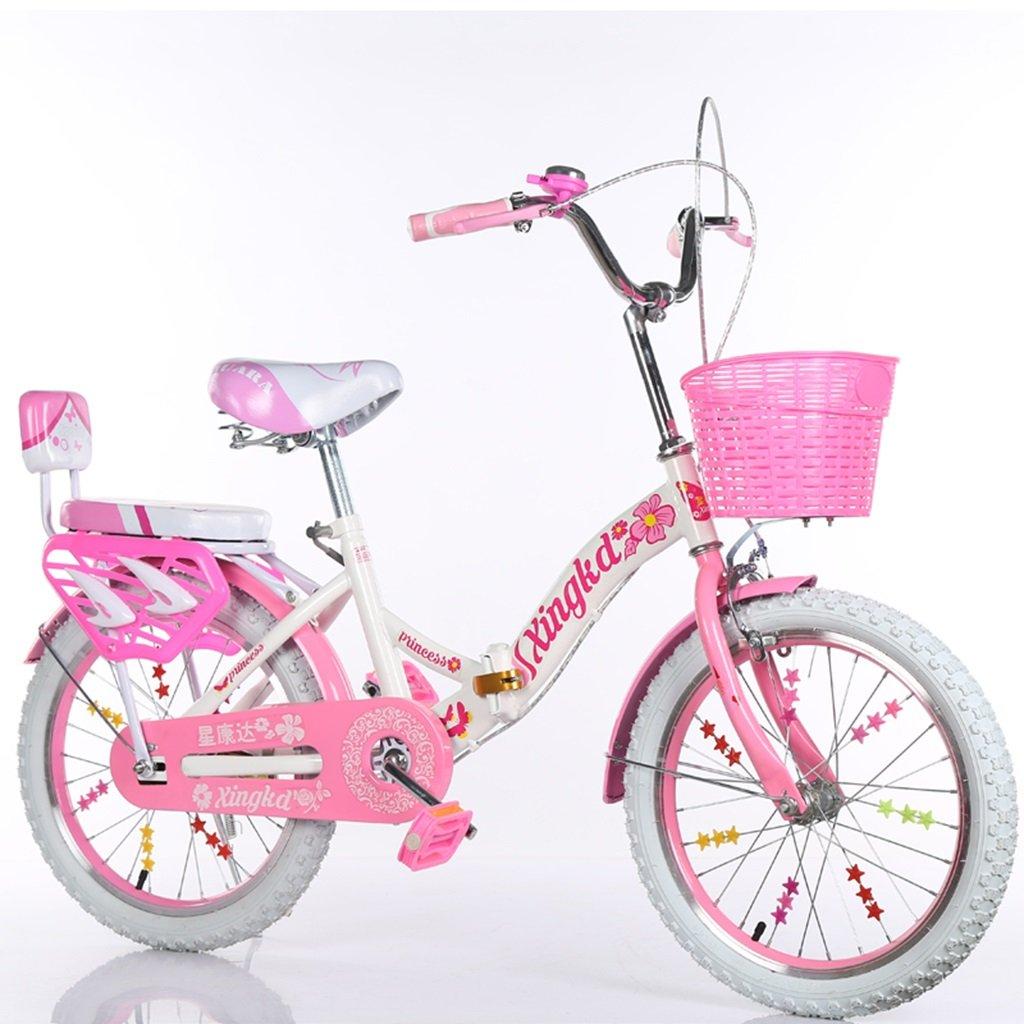 CSQ 子供の折りたたみ自転車、男の子、女の子学生バスケット後部座席高炭素鋼ボディ丈夫で安全な子供用5-13 115-128CM 子供用自転車 (色 : A, サイズ さいず : 128CM) B07DWLQ1KZ 128CM|A A 128CM