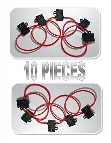 Amazon 10 Pack Scosche 12 Ga Atc Heavy Duty Fuse Holder Volt. 10 Pack Scosche 12 Ga Atc Heavy Duty Fuse Holder Volt Automotive Copper Wire. Wiring. Wiring 12 Volt Fuse Block With Lights At Scoala.co