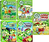 LeapFrog 9 DVDs plus CD and Flash Cards: Includes Learning Set #1: Letter Factory, Talking Words Factory, Let's Go to School with 26 Flash Cards. Plus Learning Set #2: Talking Words 2 (Code Word Caper), Math Circus & Math Adventure to the Moon with Music CD. Plus Numbers Ahoy, The Amazing Alphabet Amusement Park and Learn to Read at the Storybook Factory (Leap Frog)
