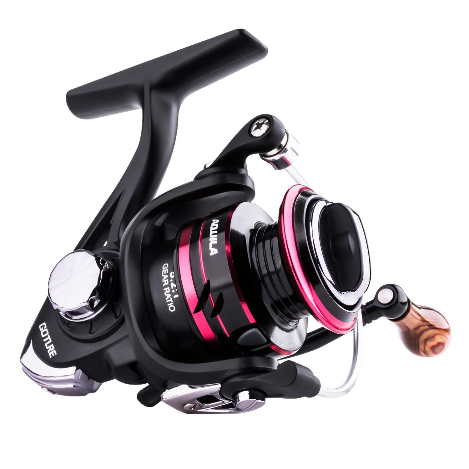 Goture Spinning Reel – Freshwater and Saltwater Fishing Reels Spinning Stainless Steel Bearings Smooth Powerful 5 1 Steel Ball Bearings Up to 17.7lbs of Smooth Drag Ice Fishing Reels