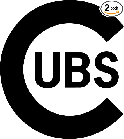 Amazon Angdest Chicago Cubs Logo Black Waterproof Vinyl Decal