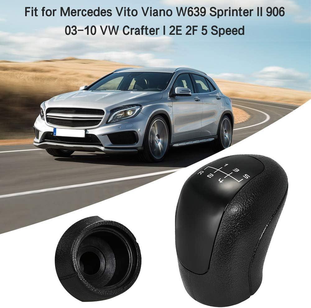 KKmoon Pommeau de Levier de Vitesse Manuel 5//6 Vitesses pour Mercedes Vito Viano W639 Sprinter II 906 03-10 VW Crafter I 2E 2F