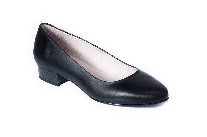 zeddea Deva negro - zapatos de tacón cómodos para mujer 41 EU