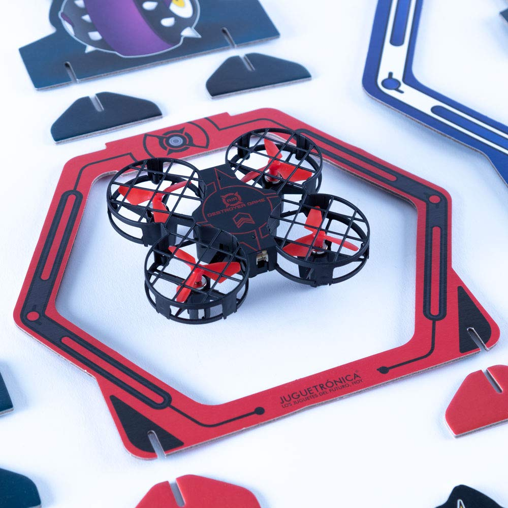 JUGUETRÓNICA Game of Skill and Competition Air Destroyer Game, Black and Red (JUG0330)