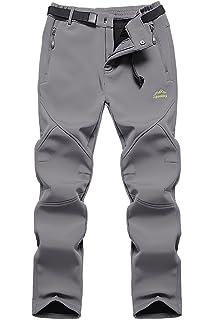 0311214a41f3 Skyinger Men s Outdoor Windproof Waterproof Softshell Fleece Snow Pants