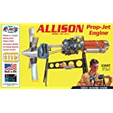 Atlantis Allison Prop Jet Aircraft Engine STEM Plastic Model Kit 1/10 Toy and Hobby