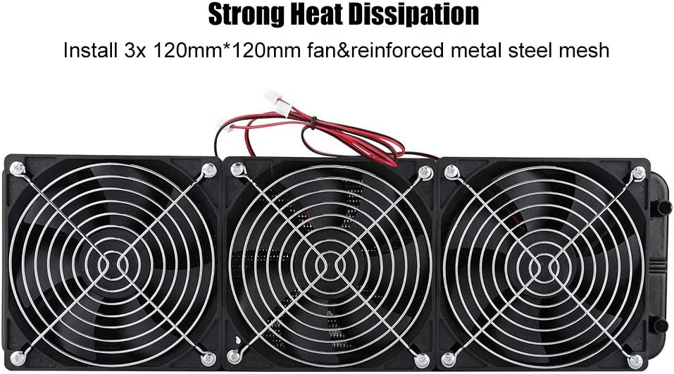 Serounder Aluminum Water Radiator,360mm G1//4 Thread CPU Water Drain Cooler System,18 Pipe Ultra Quick Heat Sink Dissipation Row Radiator with 3X 120mm120mm Fan for Water Cooling Computer PC