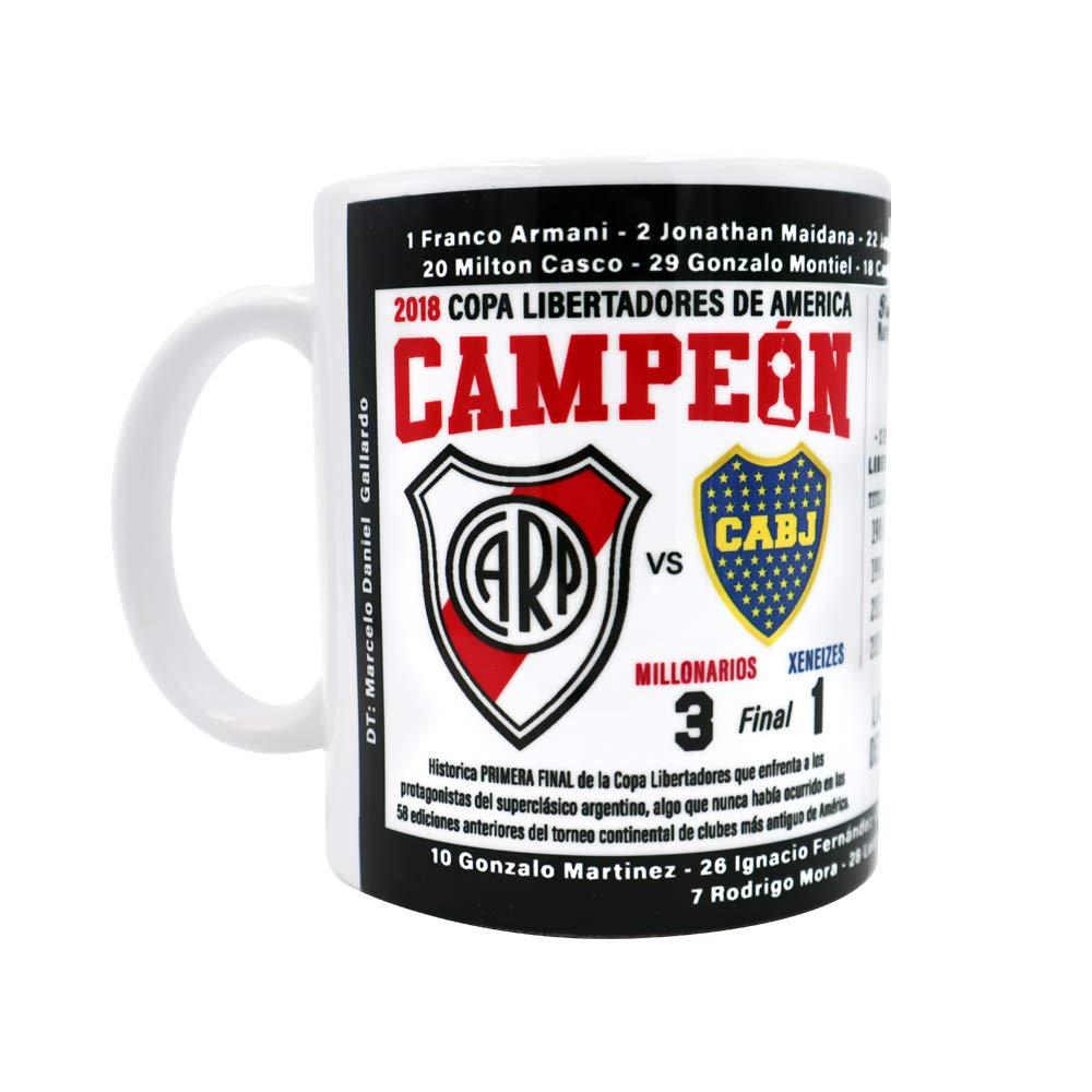 Amazon.com: Gio Gifts River Plate Argentina Futbol Soccer Mug Campeon 2018 Copa Libertadores Souvenir: Kitchen & Dining