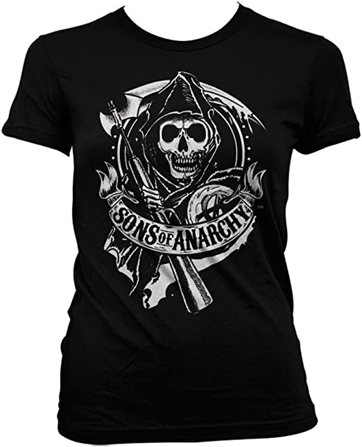 Officially Licensed Sons Of Anarchy SOA Full CA Backprint T-Shirt S-XXL Sizes