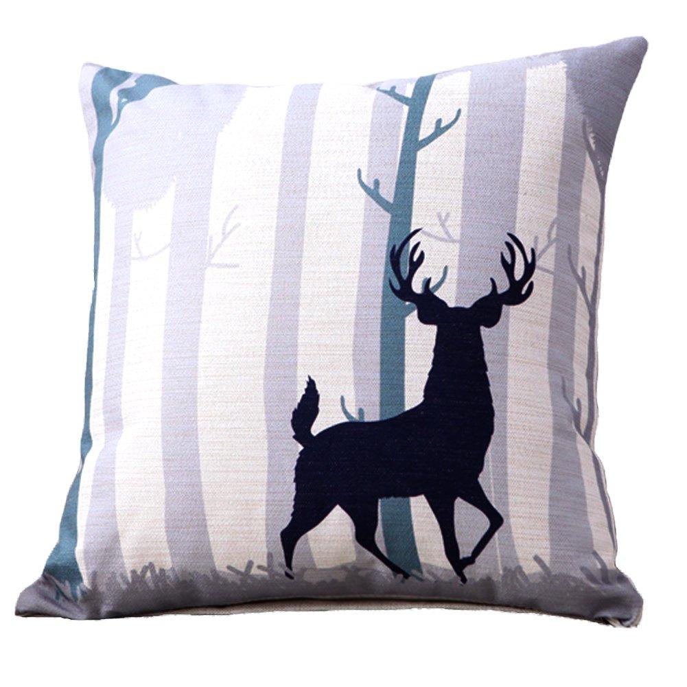 Amazon: Deer Throw Pillows Linen Cotton Cushion - Creative Decoration  For Sofa Car Home Gifts 18