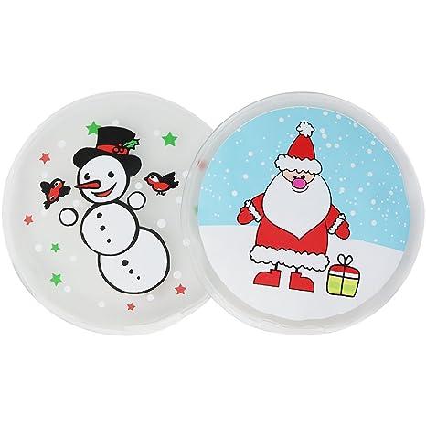COM-FOUR® Calientabolsillos Merry Christmas, calentador de manos con varios motivos navideños: Amazon.es: Hogar