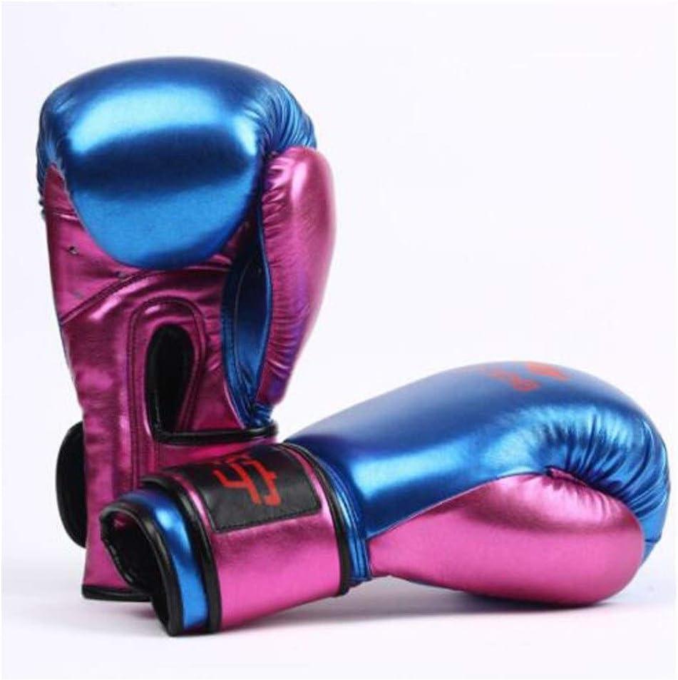 TMYQM ボクシンググローブ、アダルトサンダグローブ、ムエタイファイティングトレーニング、サンドバッグファイティンググローブ、10オンス、12オンス、 柔らかく快適 青 10oz