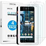 OMOTON [4 Pack] Screen Protector for Google Pixel 2 [5.0 Inch], Tempered Glass/Alignment Frame/Only Cover Display Area