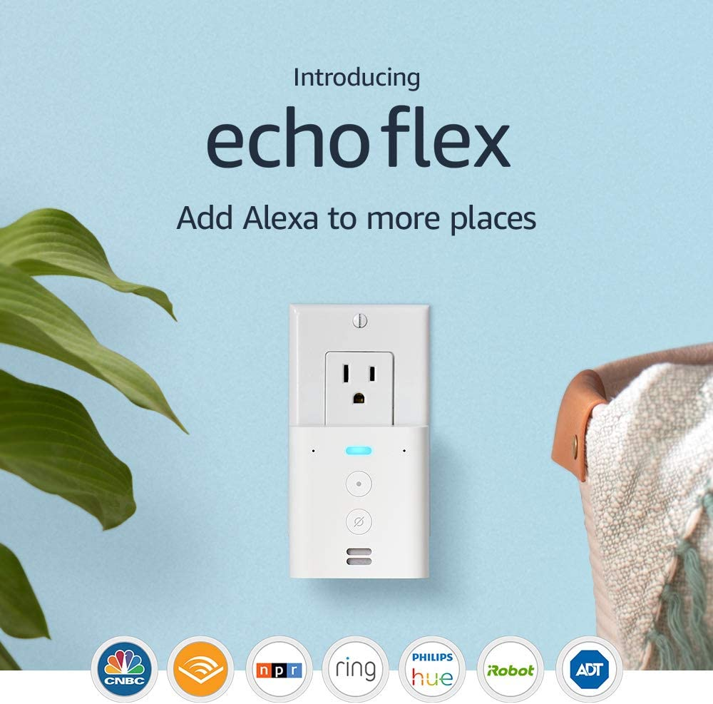 Echo Flex, A Plug-in mini smart speaker with Alexa