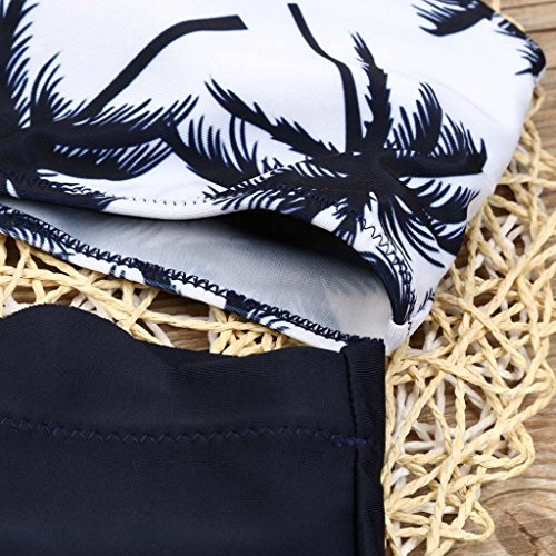 HARRYSTORE 2017 Mujeres Bikini conjunto traje de baño Push-Up acolchado traje de baño de impresión Beachwear Negro