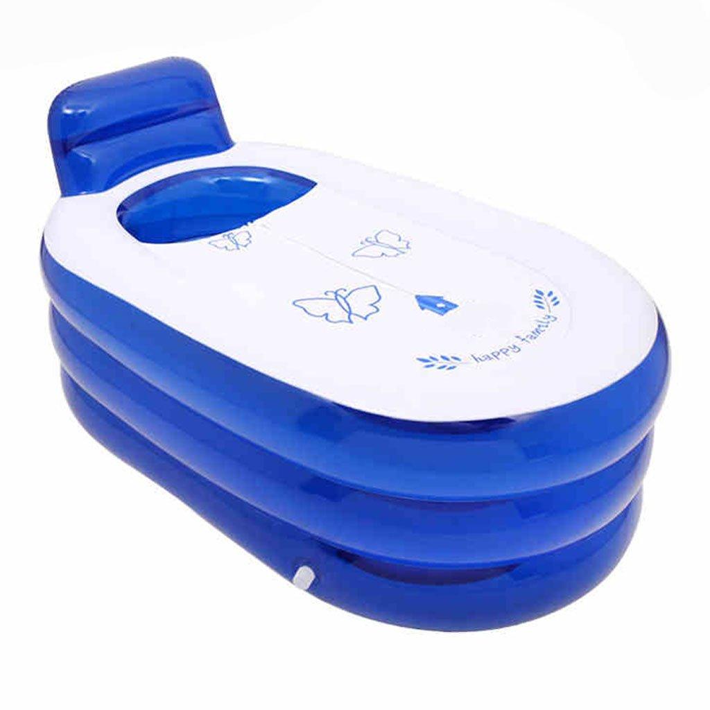 GYZ Bathtub-Inflatable Bathtub Adult Insulated Back Bath Barrel Thickened Children's Tub Folding Bath Tub Inflatable hot tub (Color : A)